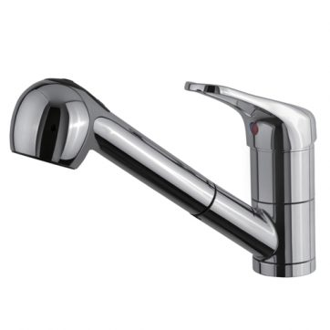 U201cContemporary Collectionu201d Single Handle Kitchen Faucet With Pull Out Spray