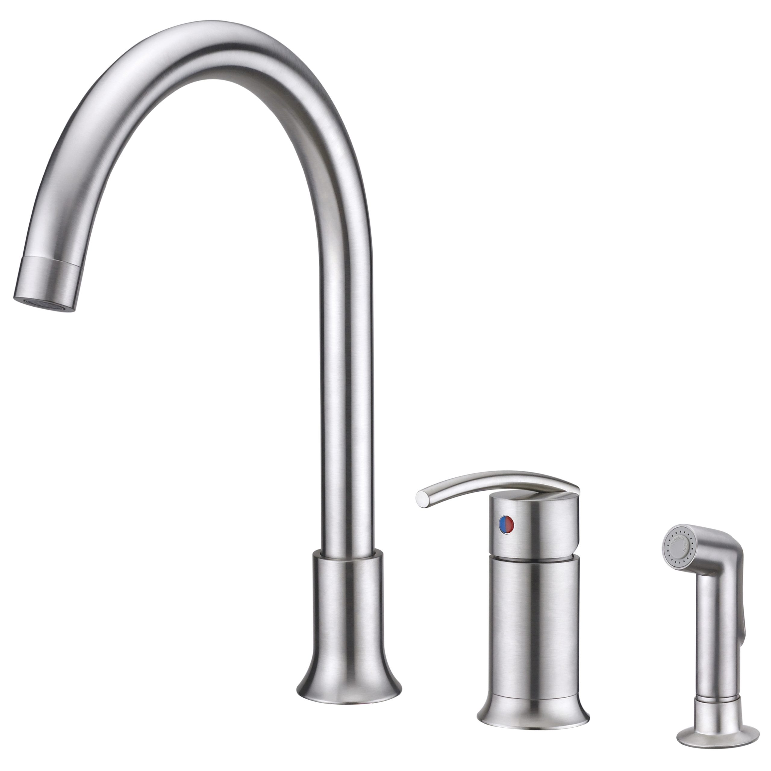 Sweep Collection Single Handle Kitchen Faucet With Side