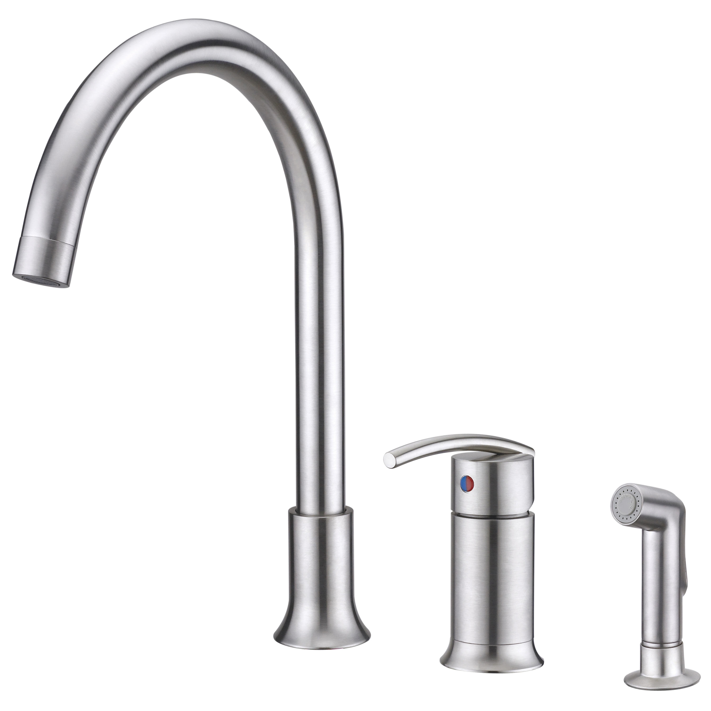 single handle kitchen faucet with side spray single lever handle ...