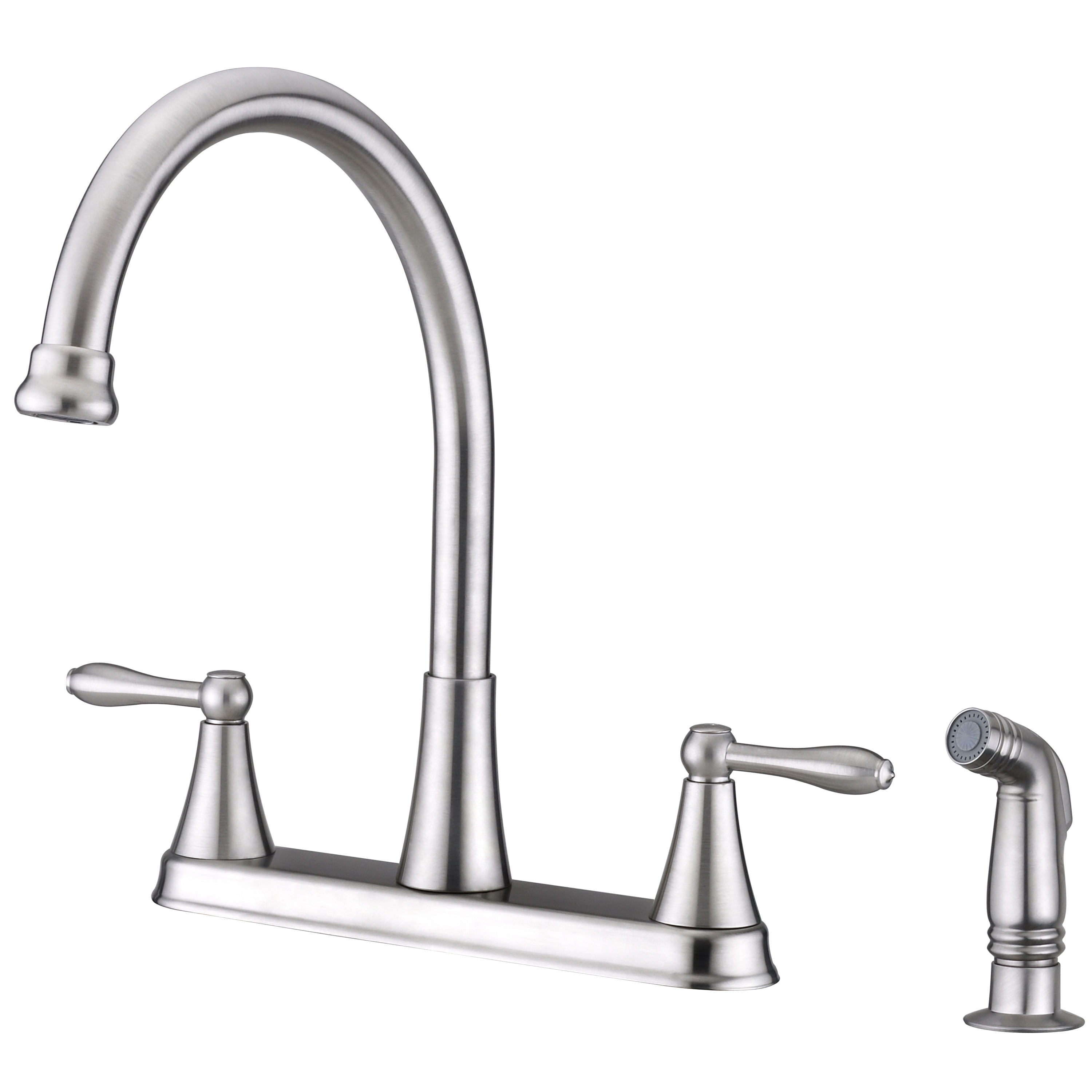 Contour Collection Two Handle Kitchen Faucet With Side