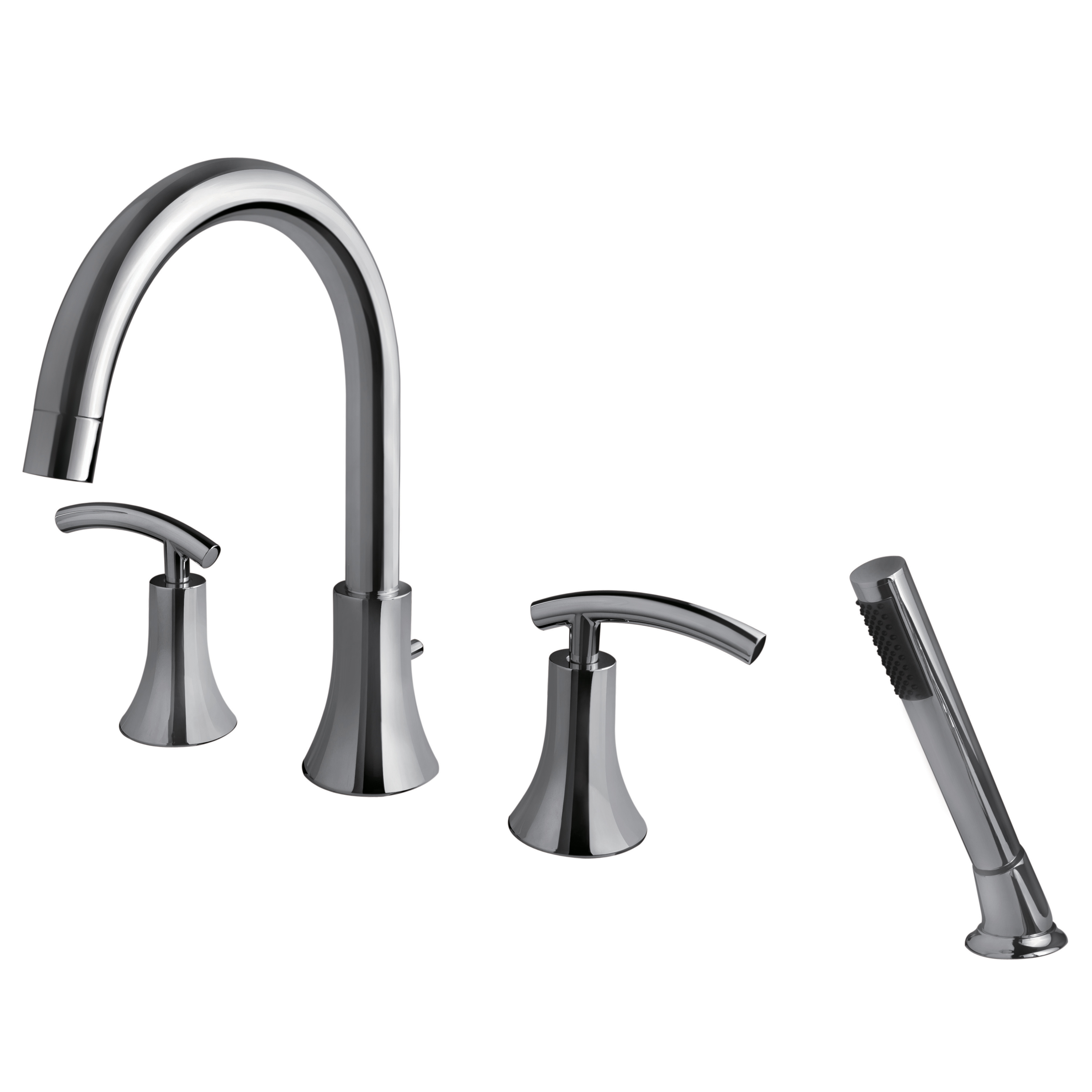 Sweep Collection Roman Tub Faucet With Hand Shower Ultra Faucets