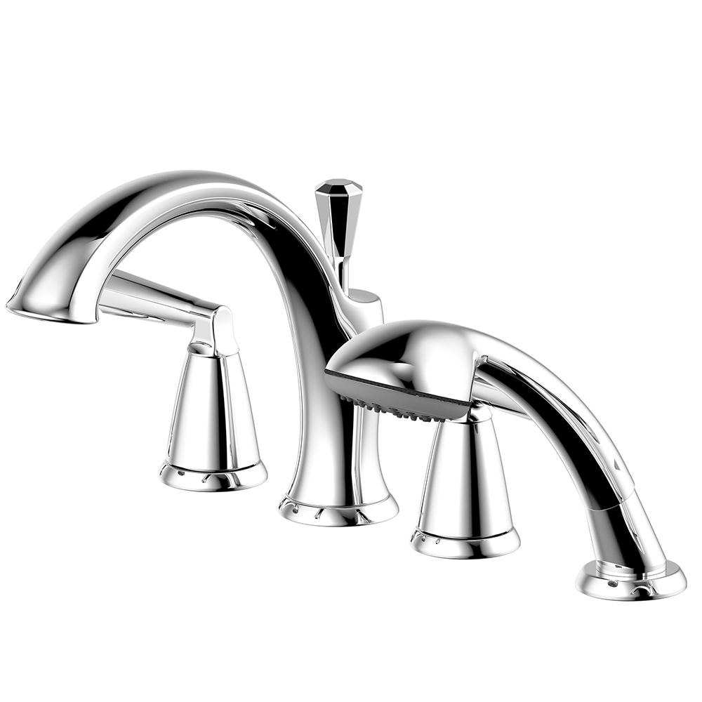 "Z Collection"" Roman Tub Faucet with Hand Shower – Ultra Faucets"