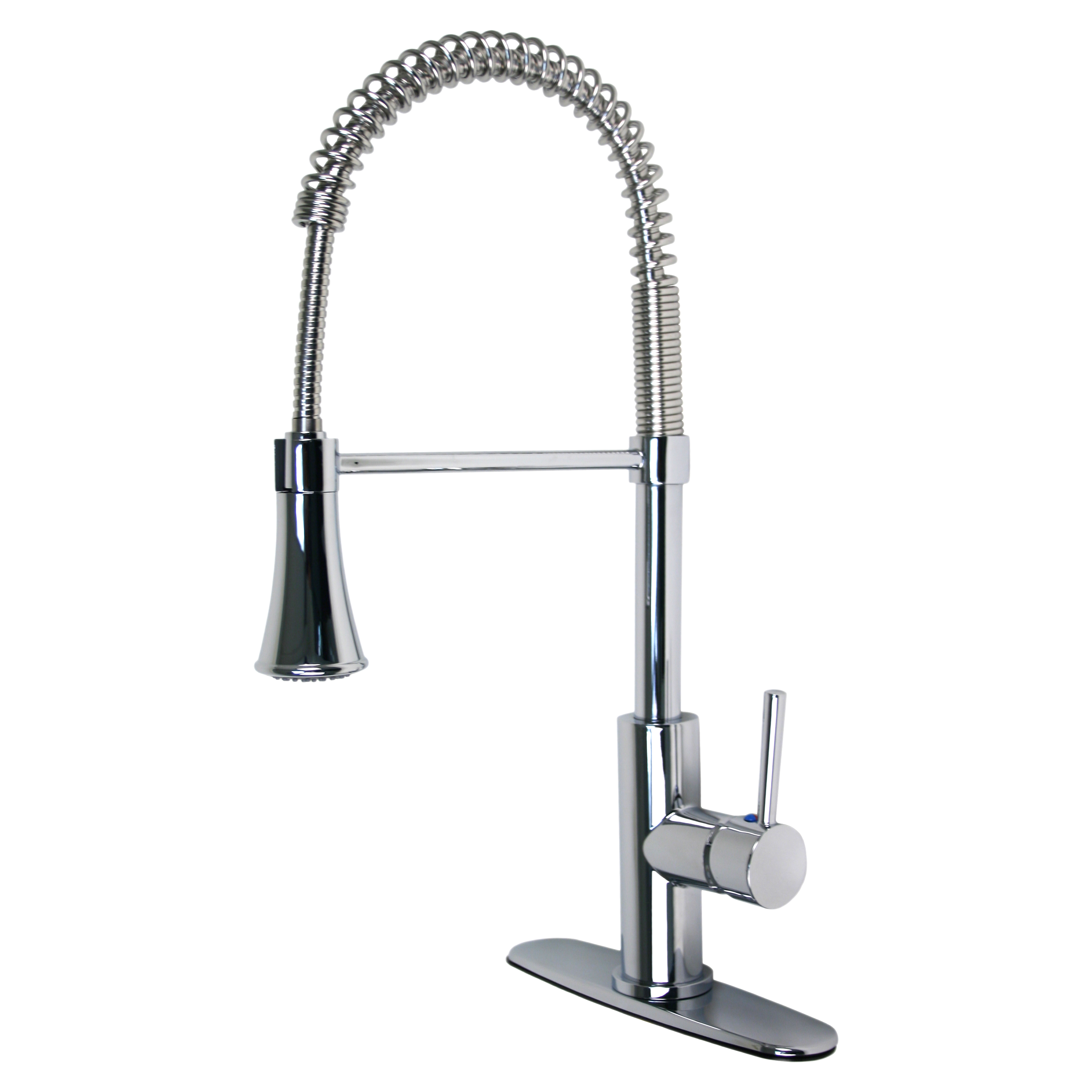 Euro Collection Single Handle Kitchen Faucet With Spring Spout