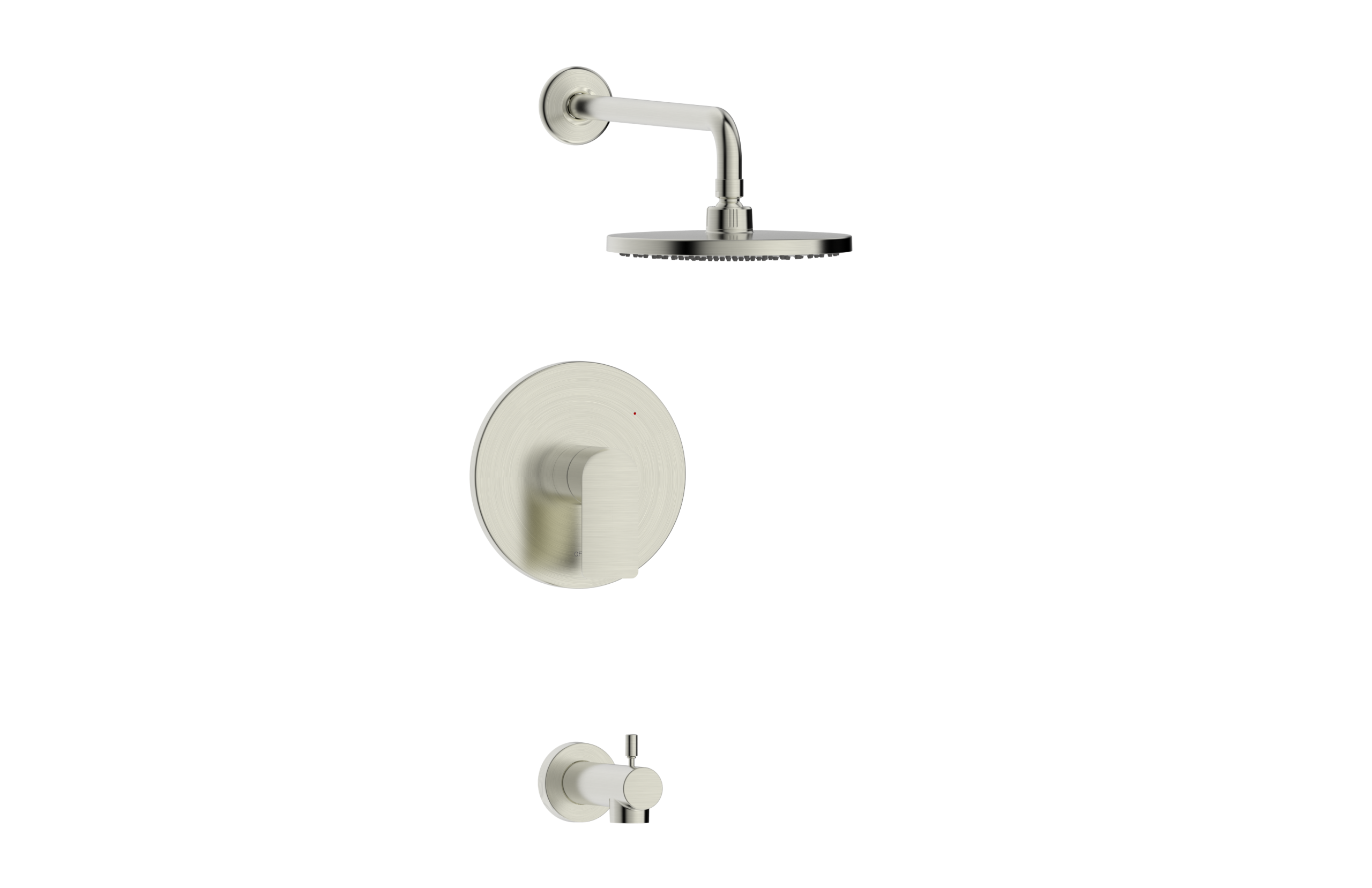 Wedge Collection Single Handle Tub And Shower Trim